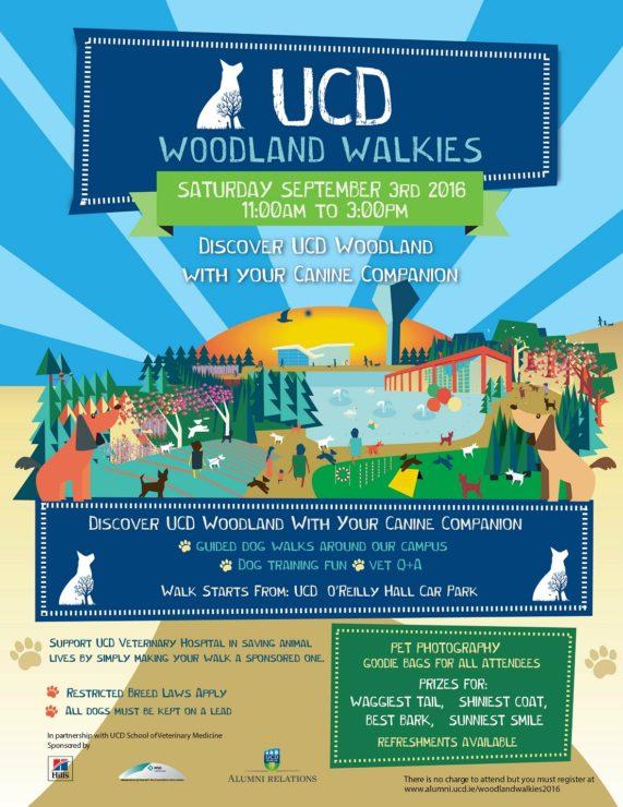 UCD Woodland Walkies 2016 Poster